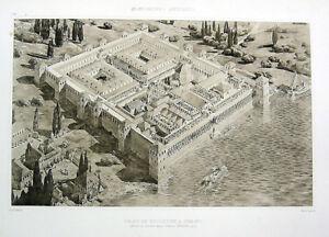 280-ROME-EMPEROR-DIOCLETIAN-PALACE-SPLIT-CROATIA-1910-Architecture-Art-Print