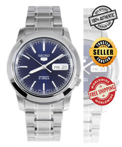Seiko-5-Automatic-SNKE51-SNKE51K1-Men-Day-Date-Blue-Dial-Stainless-Steel-Watch
