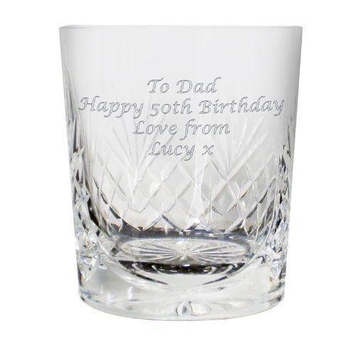 KNIGHTON Cristallo Bicchiere da whisky Medium personalizzato con te proprio messaggio fino a.