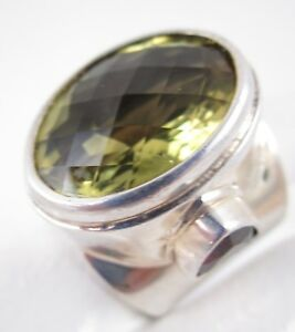 Unter Der Voraussetzung Hinreißend Obsidian Marke Dallas Gelb Citrin Granat Sterling Statement Ring Zur Verbesserung Der Durchblutung Kleidung & Accessoires Damen-accessoires
