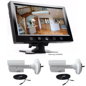 Set Überwachungskamera mit Monitor Überwachungssystem Videoüberwachung Live
