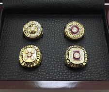 4P L.A. Lakers 1980 1982 1987 1988 Championship rings 'JOHNSON' Nice Gift