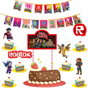 Roblox Birthday Cupcakes Roblox Balloon Birthday Party Decoration Cup Table Topper Cupcake Plate Banner Ebay