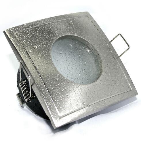Cavité einbauring Aquarius-s rectangulaire gu10 230 volts ou mr16 12v pour LED Halogène