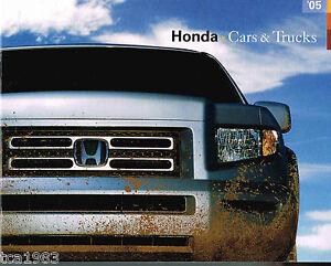 Image Is Loading 2005 Honda Brochure Catalog Accord Hybrid Insight Civic