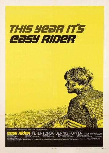 Easy Rider Dennis Hopper Peter Fonda Movie Film Poster Print Picture A3 A4