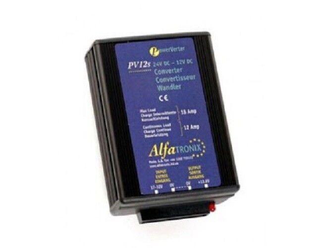 Alfatronix PV18S interm. CC-CC Wandler 24-12, 18A cont / 22A interm. PV18S 216W. 139a75