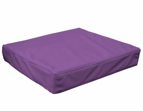 pb311t Purple Faux Leather Skin 3D Box Square Sofa Seat Cushion Cover*Custom Siz