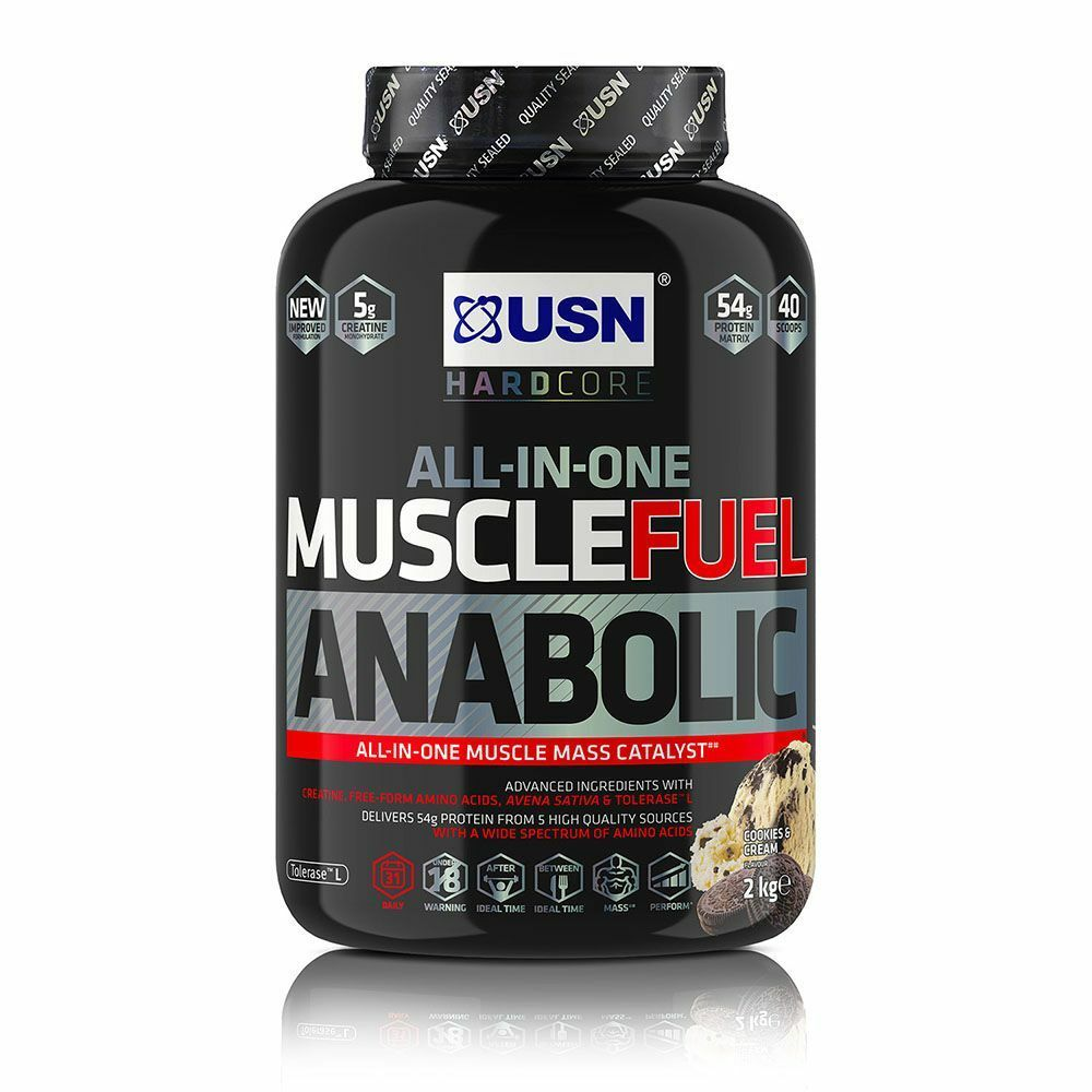 USN Muscle Fuel Anabolic All In One Protein 2/4/5.3kg ALL FLAVOURS FLAVOURS ALL 90295f