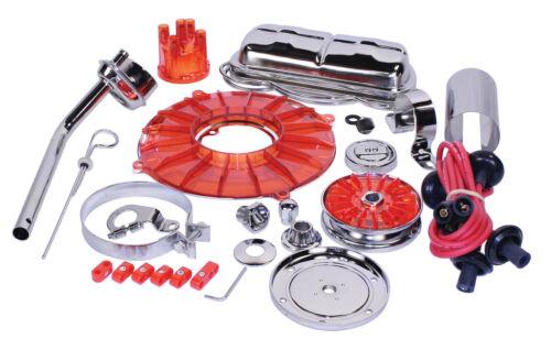 EMPI Engine Trim Super Chrome Red Dress Up Kit VW Bug Buggy VW Beetle 8653