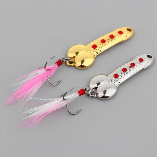2pcs//lot Metal Spoon Jigs Trolling Wobble Fishing Lures 5g 7g 10g Hard Baits
