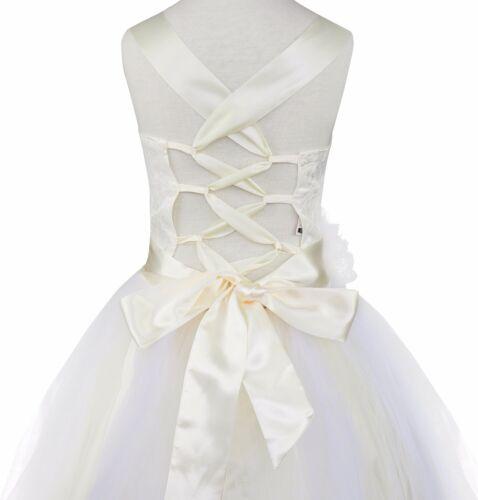 UK Pageant Princess Flower Girl Dress Wedding Bridesmaid Formal Party Tutu Dress