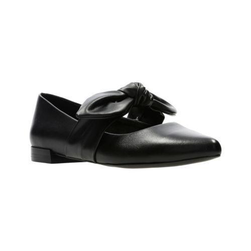 Clarks En Cuir Noir Femmes Chaussures ballerines escarpins 5 38 - 7 41 D BNWB