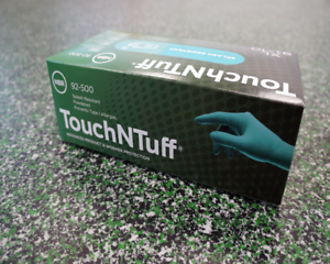 TOUCH N TUFF 92-500 NITRILE GLOVES Box Of 100Pcs Size Large