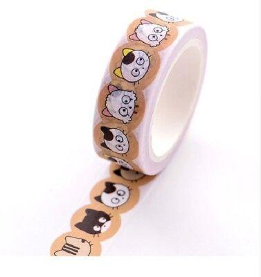 Self Adhesive Craft Gift Washi Paper Tape 15mm x 10m Cartoon Cats