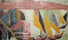 ANDRE L'HOTE-French Cubist-Hand Signed Lim.Ed. Color WB-Nile