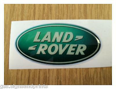 54x27MM GREEN LAND ROVER - DOMED STICKER -  DEFENDER DISCOVERY 90 110