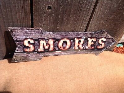 N// A Lake Sign with Arrow Left Rustic Metal Sign