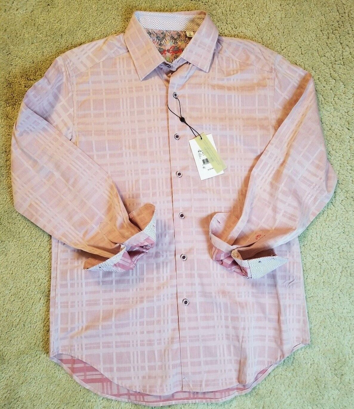 NWT Herren ROBERT GRAHAM BERRY MANUREWA DRESS SHIRT SIZE SMALL NEW MSRP 198