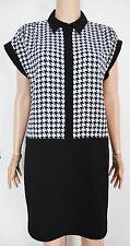 New Austin Reed size 10 Black White houndstooth Smart Dress