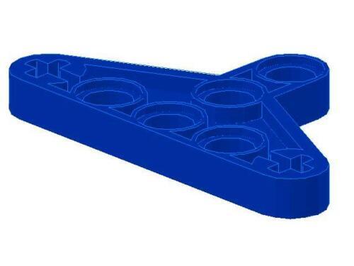blue 1 x Lego Technic 2905 Liftarm Triangle
