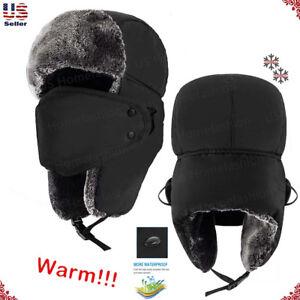 6cf9db369 Details about New Mens Winter Warm Russian Hat Trooper Snow Ski Ushanka  Waterproof Warm Unisex