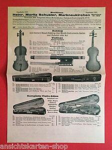 Original Reklame Blatt 1928 Moritz Schuster Musikinstr Markneukirchen F11838 Moderater Preis