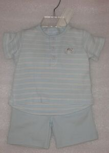 NEW-Le-Top-Baby-Boy-Puppy-039-s-Day-Out-2-Piece-Short-Set-Size-0-3-Months-NWT
