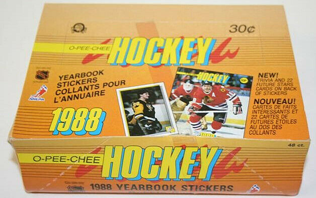 1988 OPC Hockey Yearbook Sticker Wax Box 48 packs OPeeChee Brett Hull Rookies