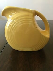 RETIRED-Fiesta-Ware-Yellow-Post-86-Small-6-JUICE-DISC-Pitcher