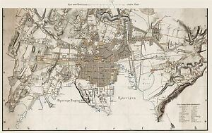 MAP-ANTIQUE-1861-NAESER-CHRISTIANIA-OSLO-NORWAY-REPLICA-POSTER-PRINT-PAM0330