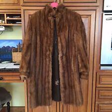Vintage Burr's Blonde Mink Fur Coat Jacket Tan Front Pockets ~M see measurements
