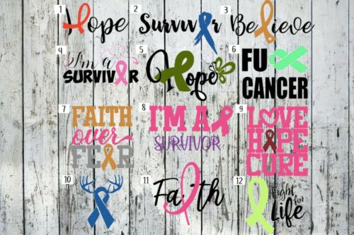 Cancer Awareness Decal 10/% Goes to Charity Perfect for Any Surface