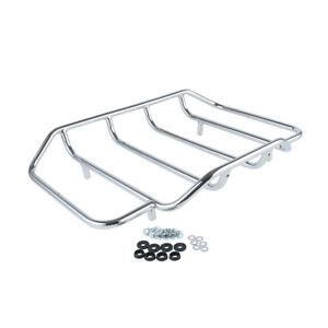Chrome-Trunk-Luggage-Rack-Rail-for-Harley-Davidson-Ultra-Classic-Flhtcui-Softail