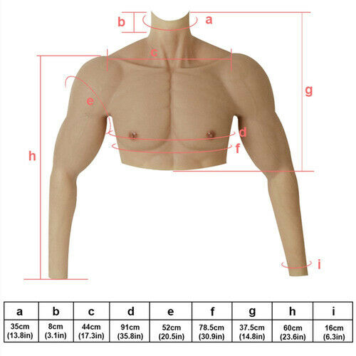 2020 fake arm muscle suit realistic pectoral muscles for male actors