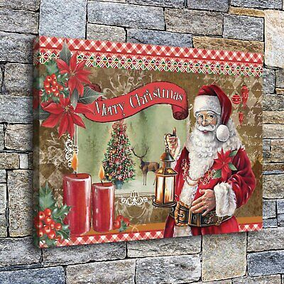 """Santa Claus Poster Home Decor HD Canvas prints Picture Wall art Painting 16/""""x22/"""""""