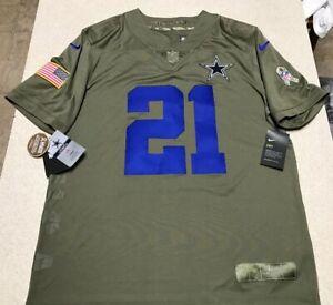 quality design 16f94 8fa42 Details about Nike Ezekiel Elliott Dallas Cowboys Salute To Service Jersey  Men's Size Large