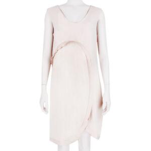 Stella-McCartney-Nude-Blush-Layered-Curved-Satin-Trim-Dress-IT42-UK10