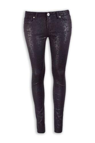 NEW Women Fashion Cherry Shiny Flower Jeans Stretchy Skinny Slim Pants ALL SIZES
