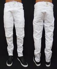 b201a179 item 7 Men's JORDAN CRAIG White Aaron Moto Silver Zipper Slim Straight  Jeans JM3067 -Men's JORDAN CRAIG White Aaron Moto Silver Zipper Slim  Straight Jeans ...