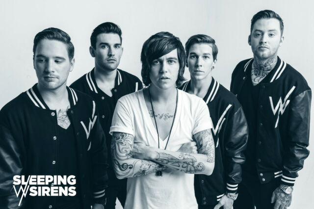 SLEEPING WITH SIRENS POSTER RARE NEW 2013 LIMITED PRODUCTION DEATHCORE
