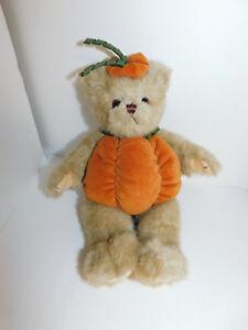 Image Is Loading Bearington Pumpkin Bear Plush Fall Decor Stuffed Animal