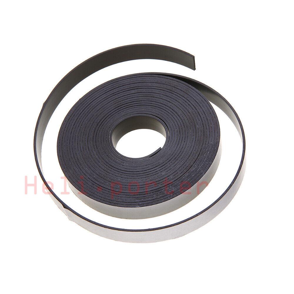 3M 5M 10M Rubber Self Adhesive Magnetic Stripe Flexible Magnet DIY Strip Tape