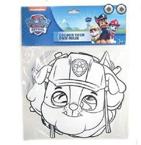 Nickelodeon Colour Your Own Paw Patrol Masks set of 3