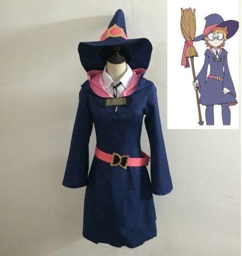 Hot Little Witch Academia Kagari Atsuko Yansson Lotte Cosplay Costume  A.0639
