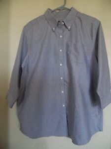 CABIN-CREEK-WRINKLE-FREE-STAIN-RELEASE-TOP-SHIRT-BLOUSE-SZ-14