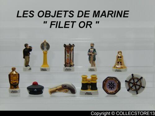 "SERIE COMPLETE DE FEVES LES OBJETS DE MARINE          /""FILET OR/"""