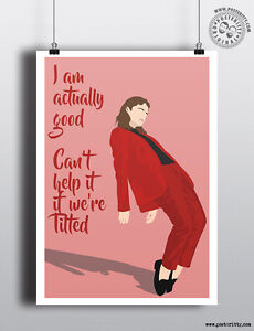 CHRISTINE /& THE QUEENS Minimalist Poster Minimal Chest Print Posteritty Tilted
