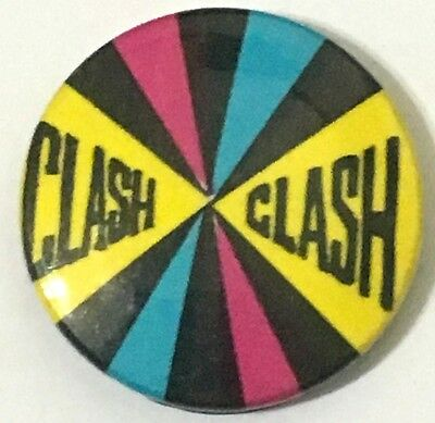 The Clash Old Og Vtg 70/80`s Button Pin Badge Punk Rock Storage & Media Accessories not Tour Patch Shirt