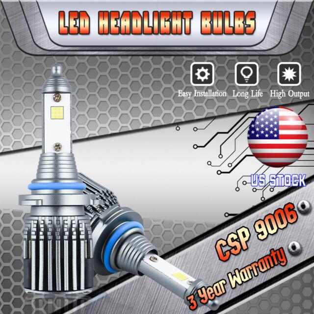 LED Headlight Kit 9006 HB4 6000K White Fog Light Bulb CSP
